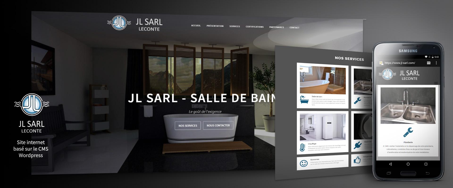 JL-SARL : Site internet basé sur le CMS WordPress